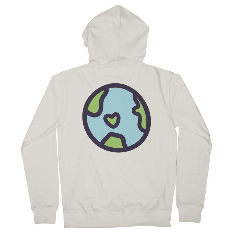 Planet Earth Men's Zip-Up Hoody by YANMOS