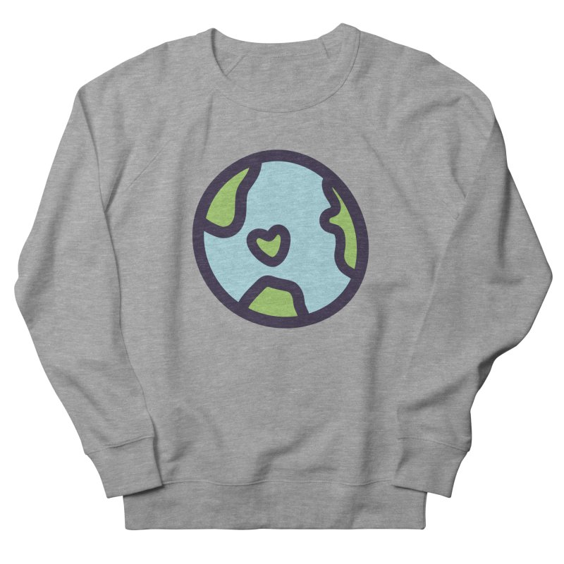 Planet Earth Women's French Terry Sweatshirt by YANMOS