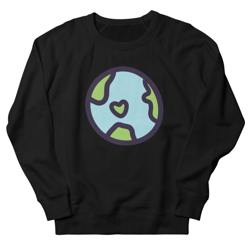 Planet Earth Men's French Terry Sweatshirt by YANMOS