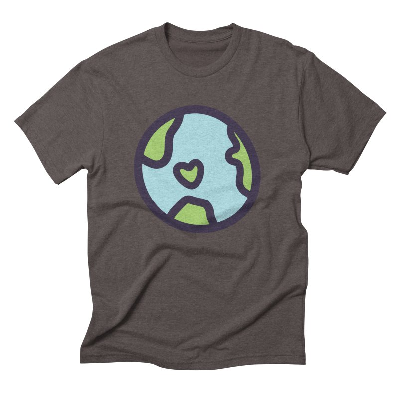 Planet Earth Men's Triblend T-Shirt by YANMOS