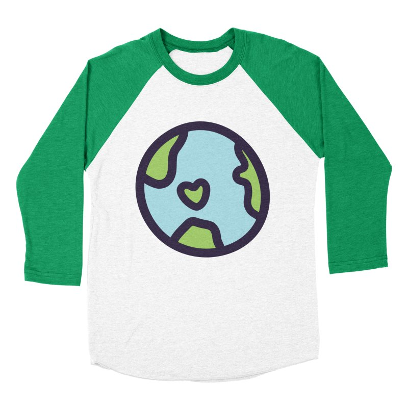 Planet Earth Women's Baseball Triblend Longsleeve T-Shirt by YANMOS