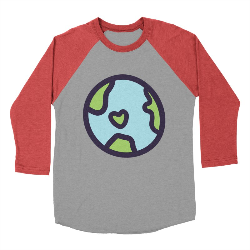 Planet Earth Men's Baseball Triblend Longsleeve T-Shirt by YANMOS