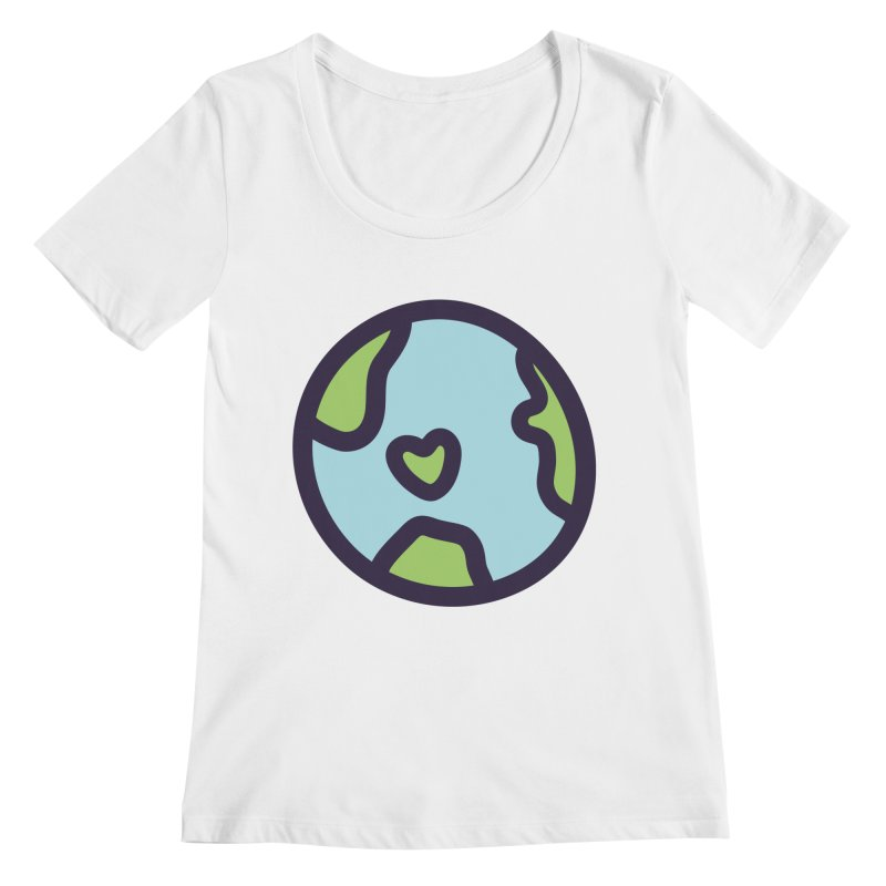 Planet Earth Women's Regular Scoop Neck by YANMOS