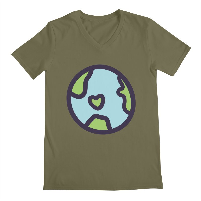 Planet Earth Men's Regular V-Neck by YANMOS