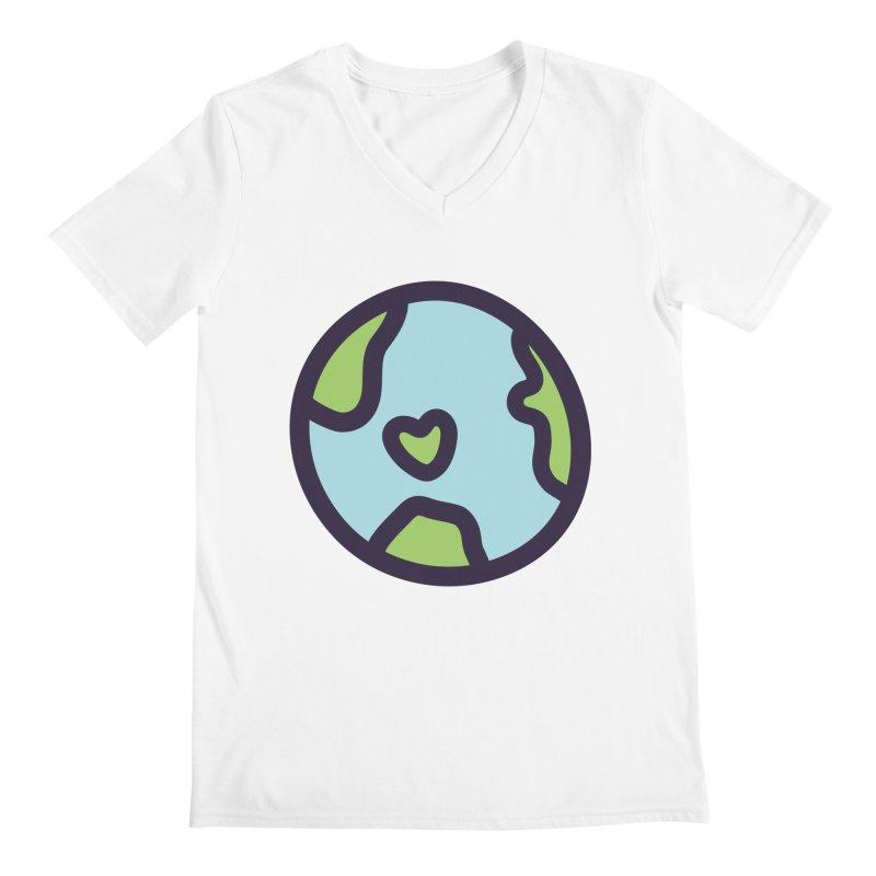 Planet Earth Men's Regular V-Neck by YANMOS