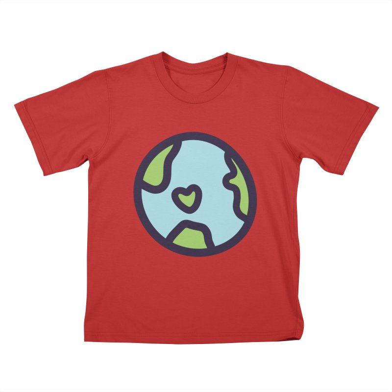 Planet Earth Kids T-Shirt by YANMOS