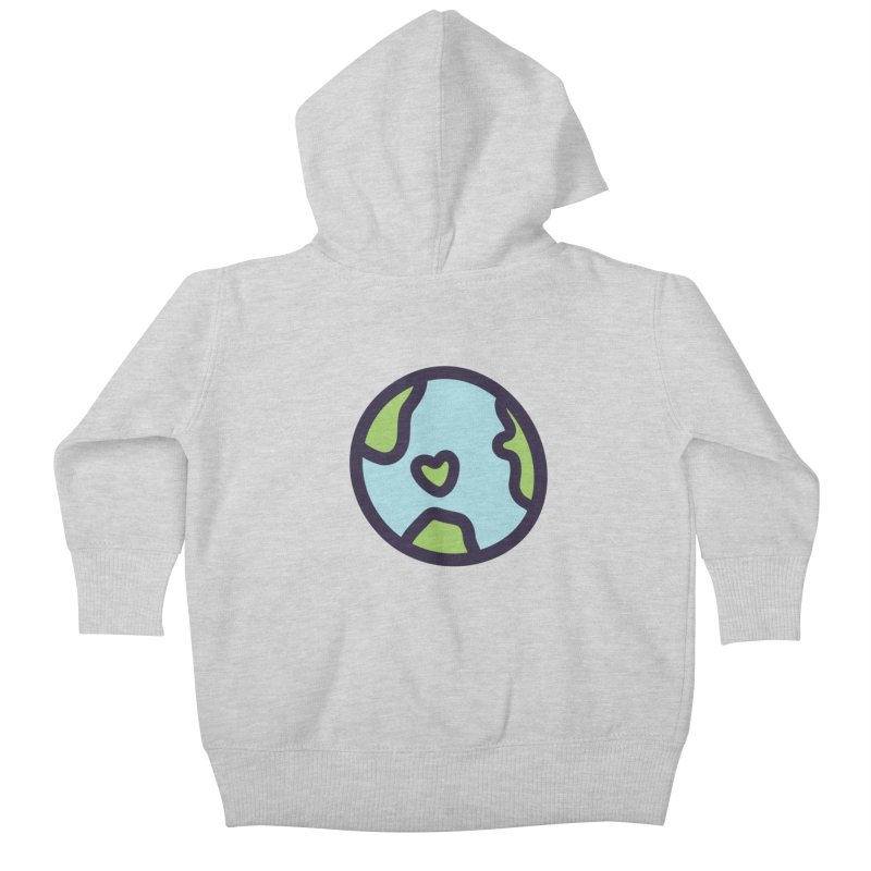 Planet Earth Kids Baby Zip-Up Hoody by YANMOS