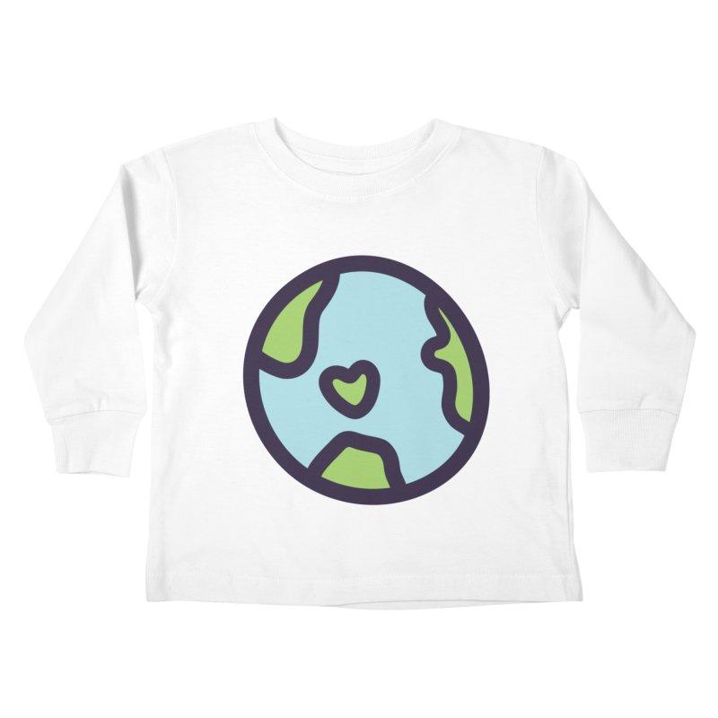 Planet Earth Kids Toddler Longsleeve T-Shirt by YANMOS