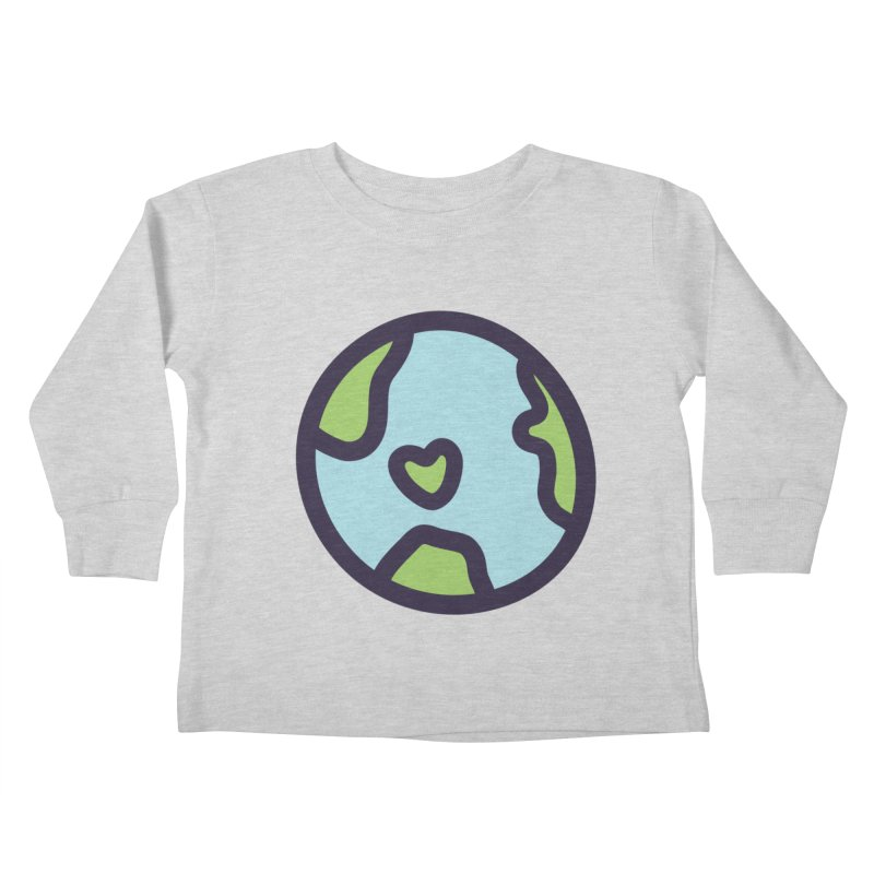 Planet Earth Kids Toddler Longsleeve T-Shirt by YANMOS