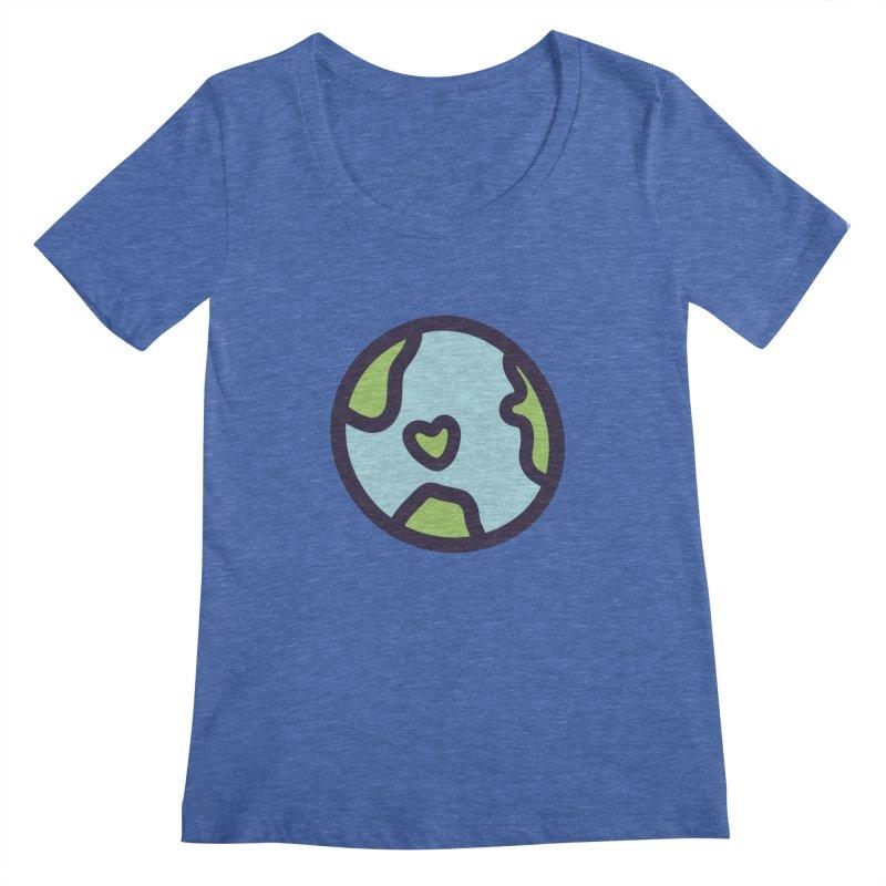 Planet Earth Women's Regular Scoop Neck by YANMOS