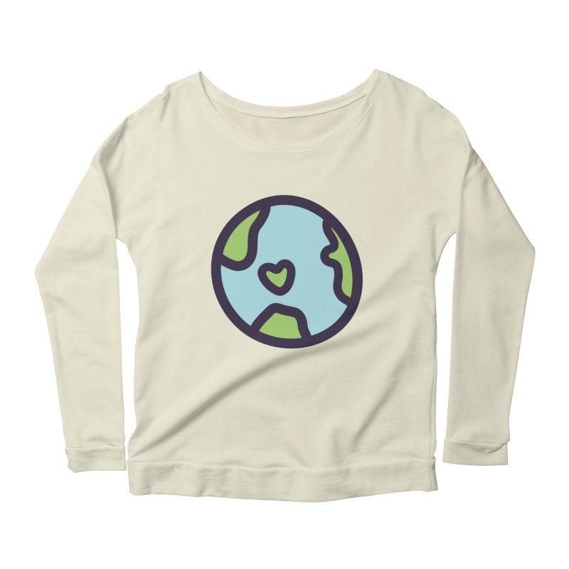 Planet Earth Women's Scoop Neck Longsleeve T-Shirt by YANMOS