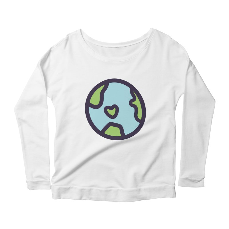 Planet Earth Women's Scoop Neck Longsleeve T-Shirt by YANMOS