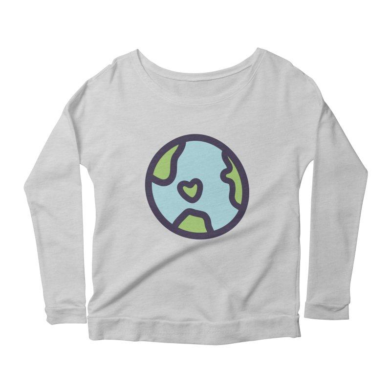 Planet Earth Women's Longsleeve Scoopneck  by YANMOS