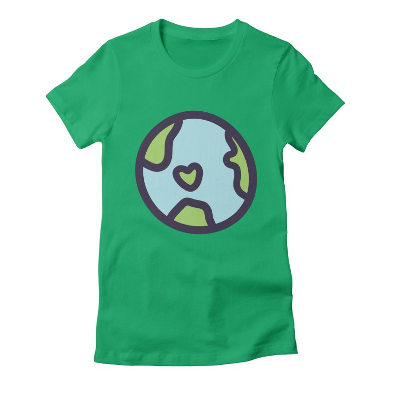 Planet Earth Women's Fitted T-Shirt by YANMOS