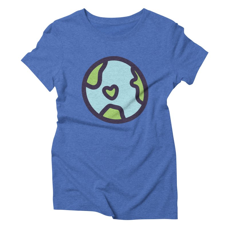 Planet Earth Women's Triblend T-Shirt by YANMOS