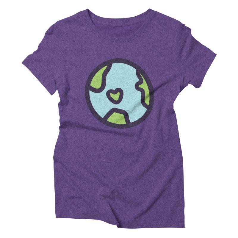 Planet Earth Women's Triblend T-Shirt by YANMOS