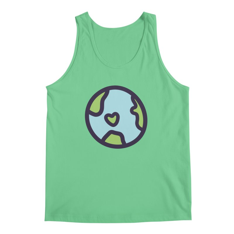 Planet Earth Men's Regular Tank by YANMOS