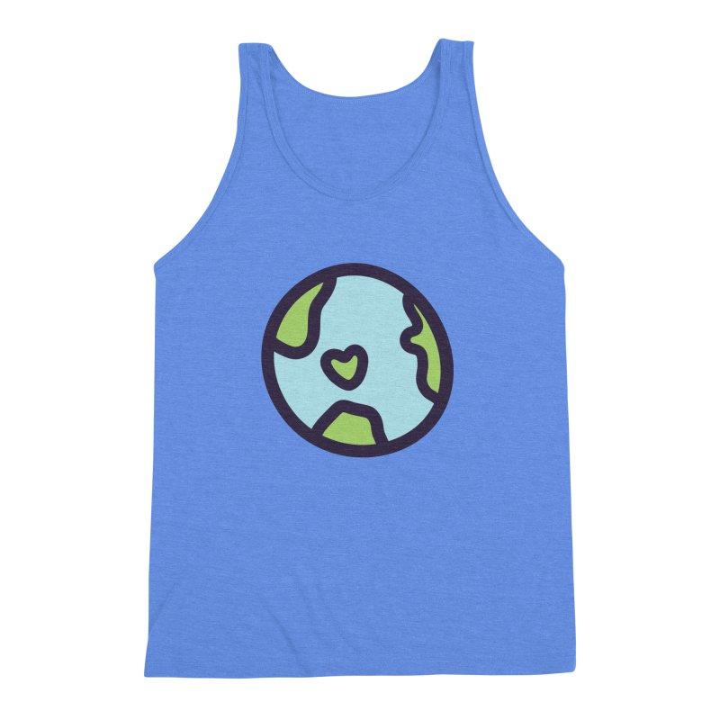 Planet Earth Men's Triblend Tank by YANMOS
