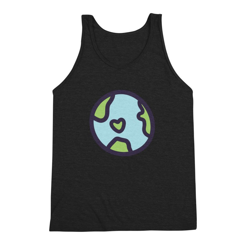 Planet Earth Men's Triblend Tank by YANMOS