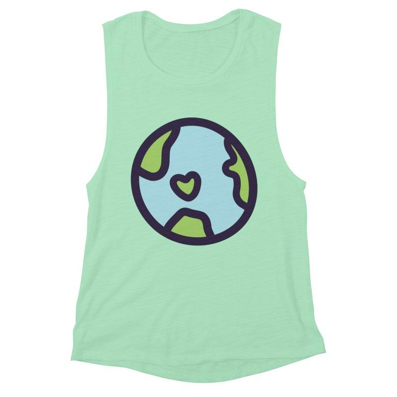 Planet Earth Women's Muscle Tank by YANMOS