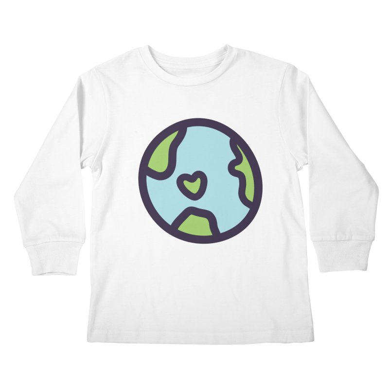 Planet Earth Kids Longsleeve T-Shirt by YANMOS