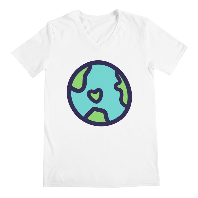Planet Earth Men's V-Neck by YANMOS