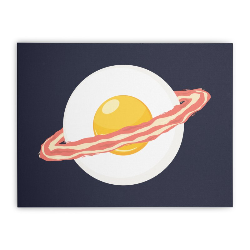 Outer space breakfast Home Stretched Canvas by YANMOS