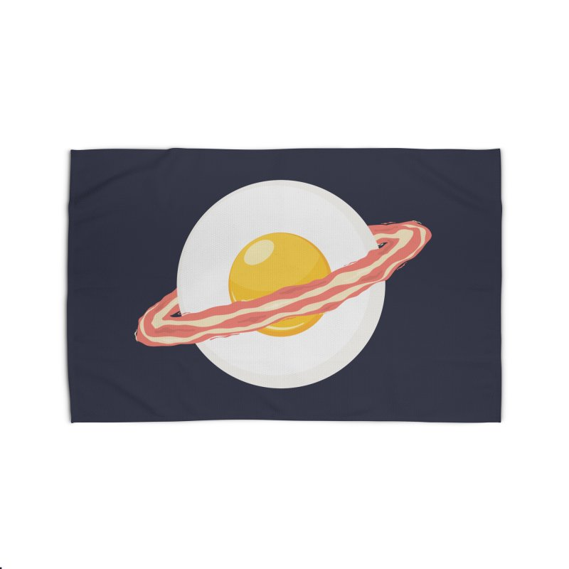 Outer space breakfast Home Rug by YANMOS