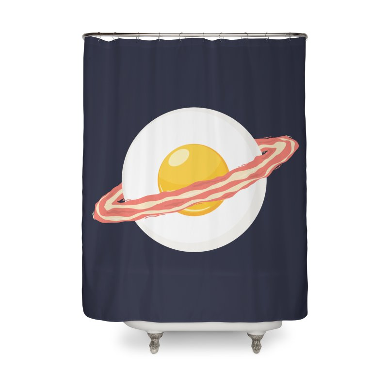 Outer space breakfast Home Shower Curtain by YANMOS