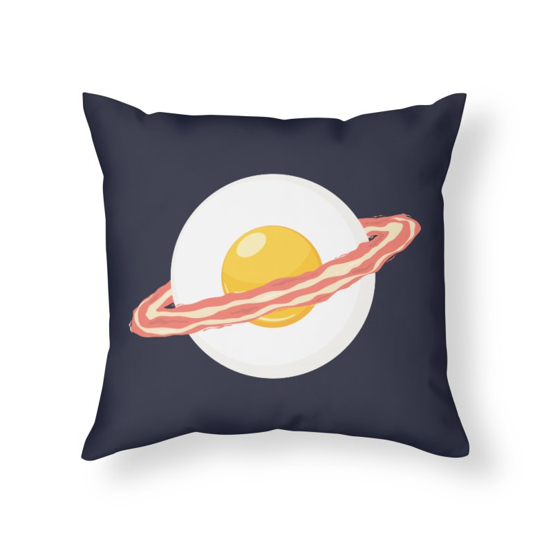 Outer space breakfast Home Throw Pillow by YANMOS