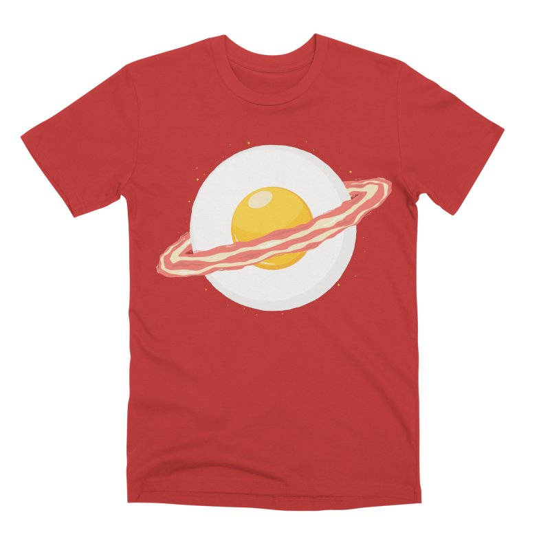 Outer space breakfast Men's Premium T-Shirt by YANMOS