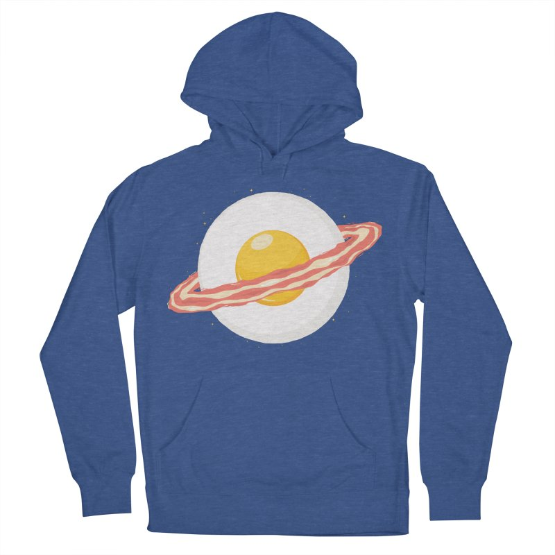 Outer space breakfast Women's French Terry Pullover Hoody by YANMOS