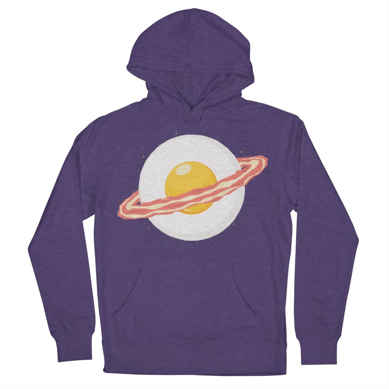 Outer space breakfast Men's French Terry Pullover Hoody by YANMOS