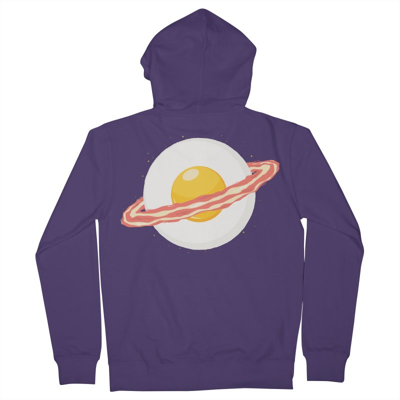 Outer space breakfast Women's French Terry Zip-Up Hoody by YANMOS