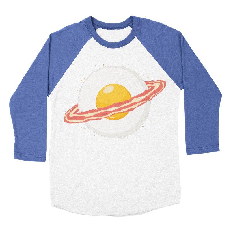 Outer space breakfast Men's Baseball Triblend Longsleeve T-Shirt by YANMOS
