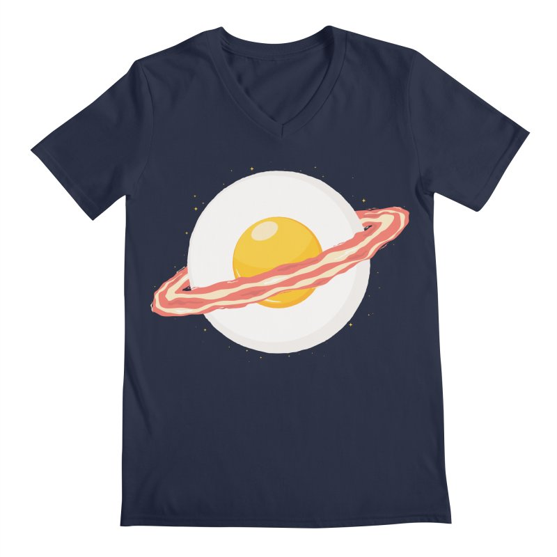 Outer space breakfast Men's Regular V-Neck by YANMOS