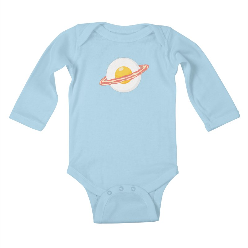 Outer space breakfast Kids Baby Longsleeve Bodysuit by YANMOS