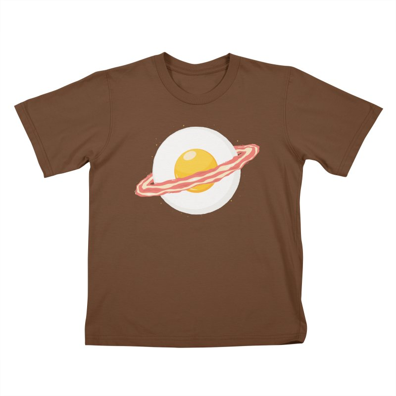 Outer space breakfast Kids T-Shirt by YANMOS