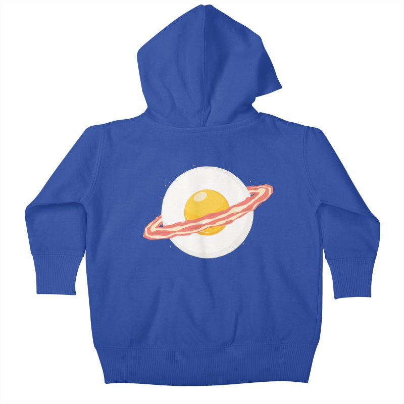 Outer space breakfast Kids Baby Zip-Up Hoody by YANMOS