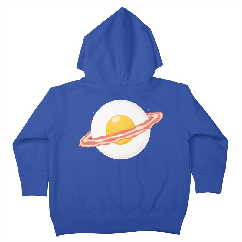 Outer space breakfast Kids Toddler Zip-Up Hoody by YANMOS