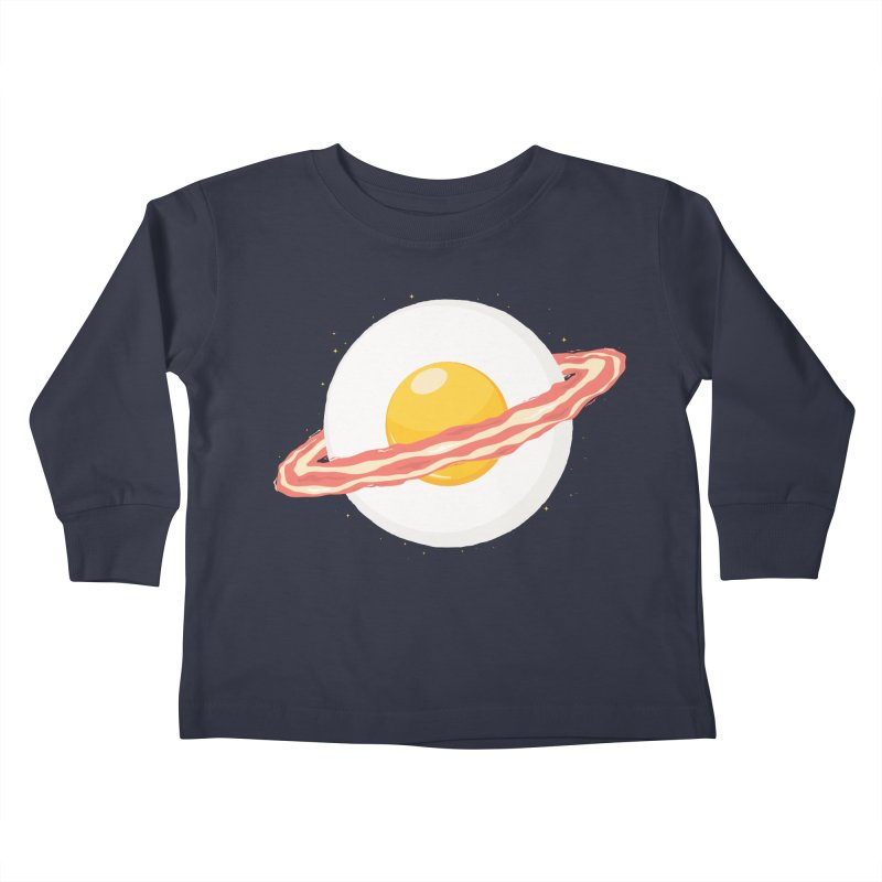 Outer space breakfast Kids Toddler Longsleeve T-Shirt by YANMOS