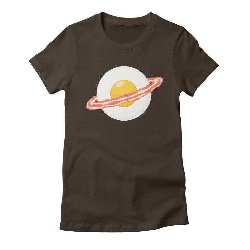 Outer space breakfast Women's Fitted T-Shirt by YANMOS