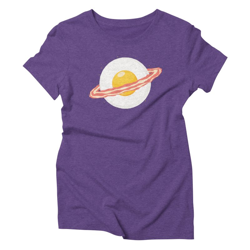 Outer space breakfast Women's Triblend T-Shirt by YANMOS