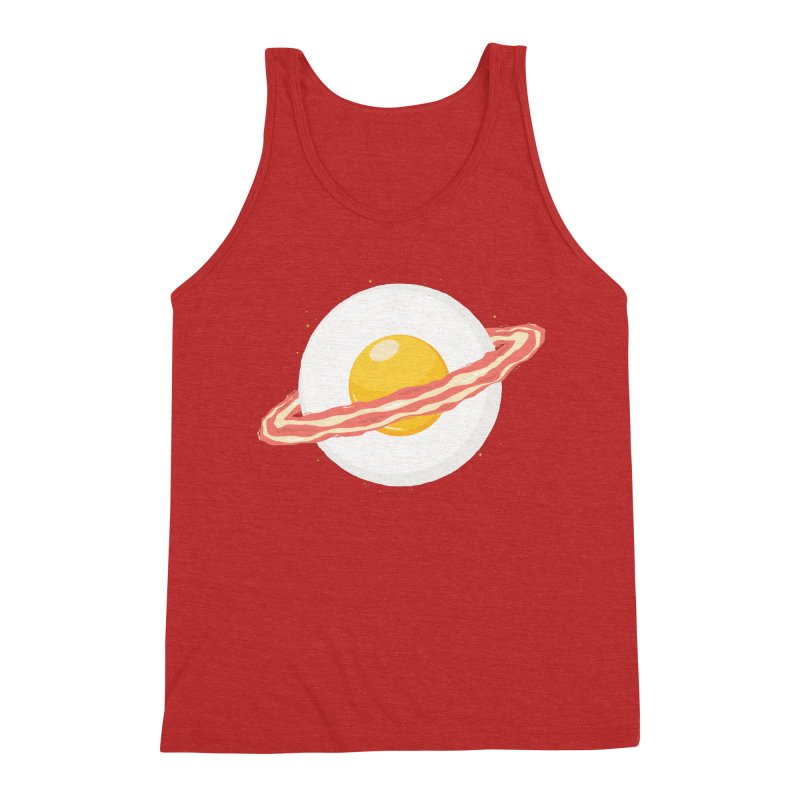 Outer space breakfast Men's Triblend Tank by YANMOS