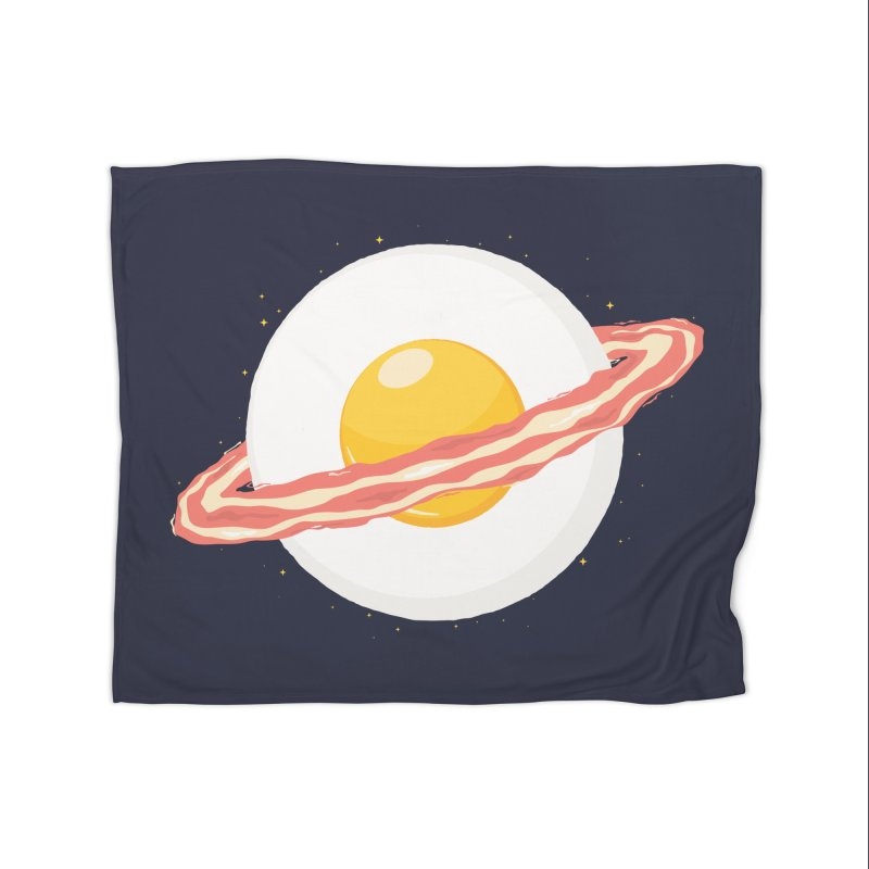 Outer space breakfast Home Fleece Blanket Blanket by YANMOS