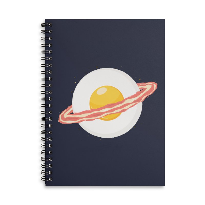Outer space breakfast Accessories Lined Spiral Notebook by YANMOS