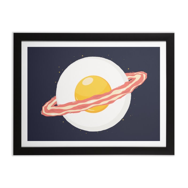 Outer space breakfast Home Framed Fine Art Print by YANMOS