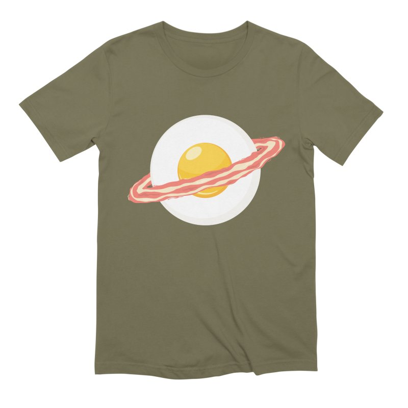 Outer space breakfast Men's Extra Soft T-Shirt by YANMOS