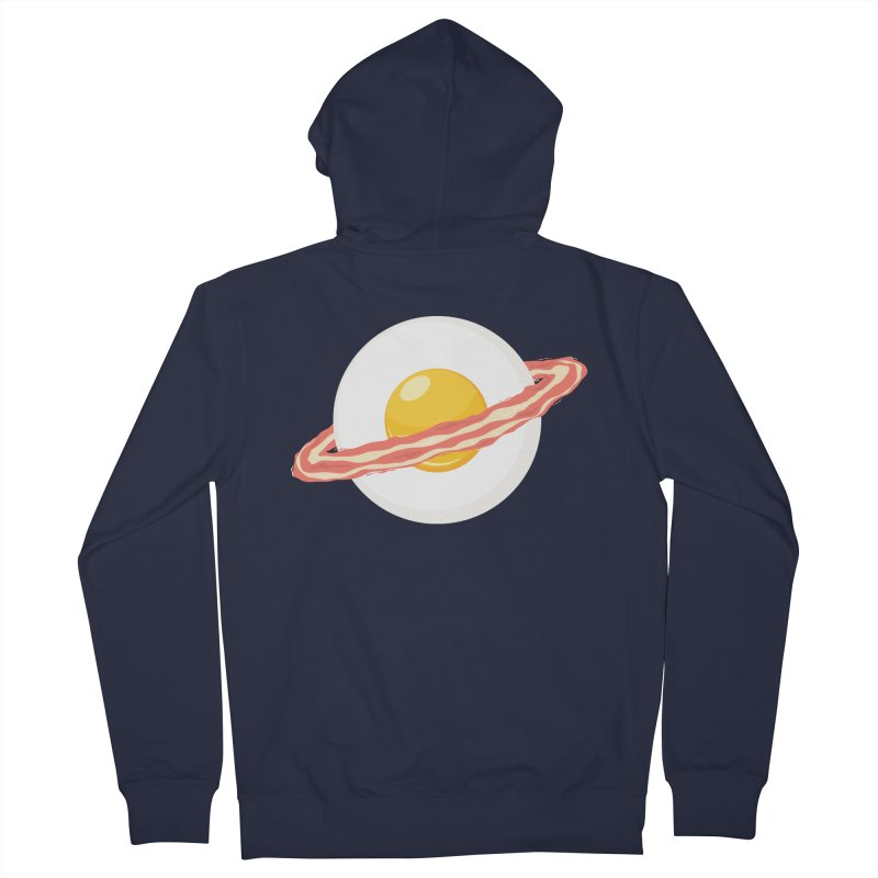 Outer space breakfast Men's French Terry Zip-Up Hoody by YANMOS