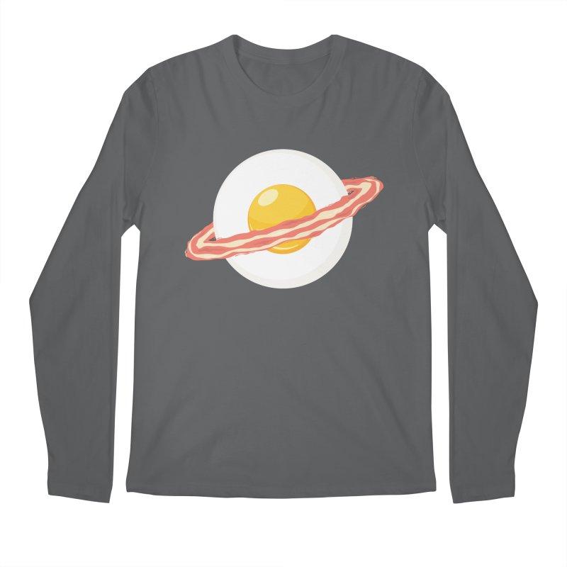 Outer space breakfast Men's Regular Longsleeve T-Shirt by YANMOS